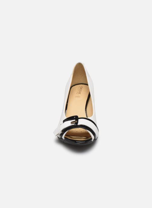 Escarpins Geox D ANNYA SPUNTATO C D828XC Blanc vue portées chaussures