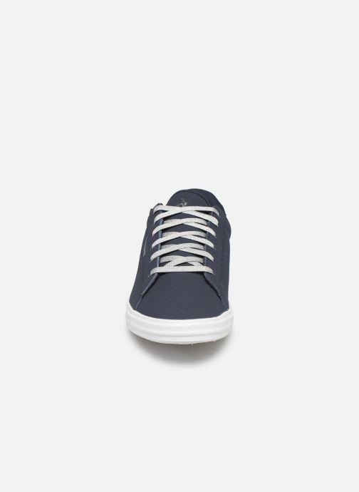 Baskets Le Coq Sportif Agate Boutique Nubuck Bleu vue portées chaussures