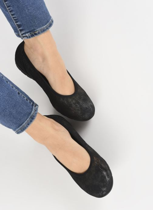 Ballet pumps Mephisto Emilie Black view from underneath / model view