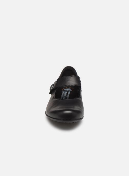 Ballerines Mephisto Flora Noir vue portées chaussures