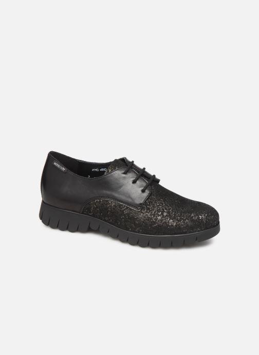 Snøresko Mephisto Lorence Sort detaljeret billede af skoene