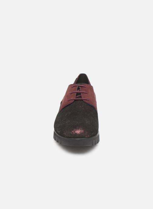Chaussures à lacets Mephisto Lorence Bordeaux vue portées chaussures