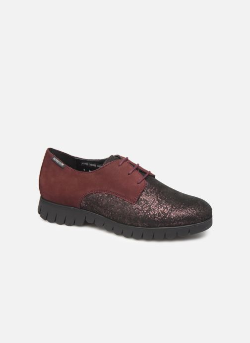 Chaussures à lacets Mephisto Lorence Bordeaux vue détail/paire
