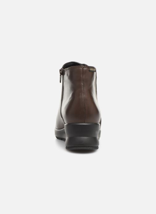 Ankle boots Mephisto Pienza Brown view from the right