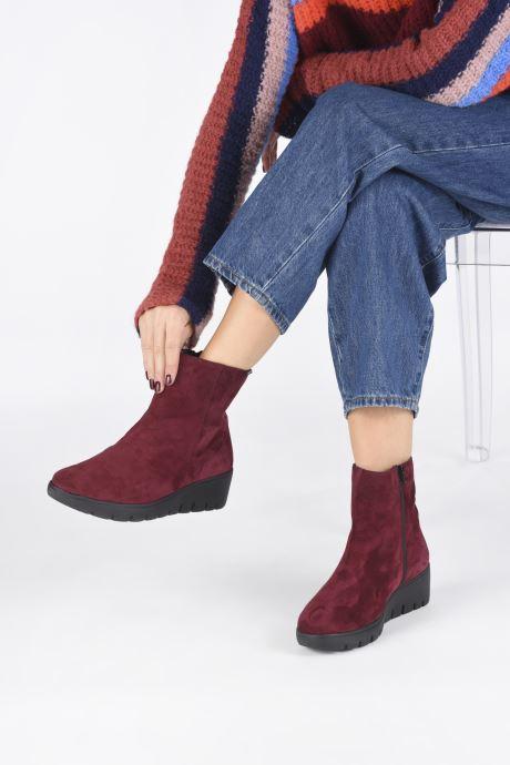 Bottines et boots Mephisto Serina Bordeaux vue bas / vue portée sac