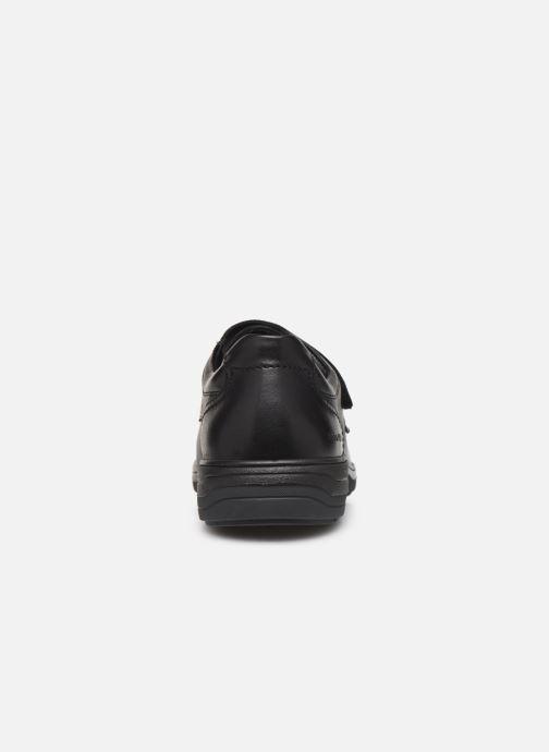 Zapatos con velcro Mephisto Delio Negro vista lateral derecha