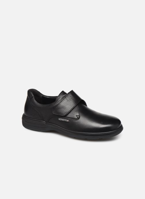 Zapatos con velcro Mephisto Delio Negro vista de detalle / par