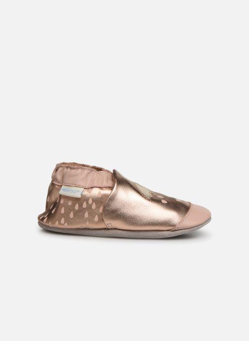 Pantoffels Robeez Loving Raing Goud en brons achterkant