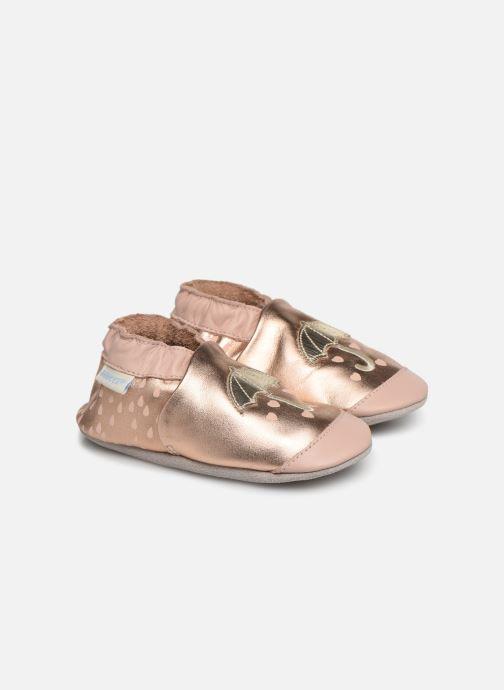 Pantoffels Robeez Loving Raing Goud en brons detail