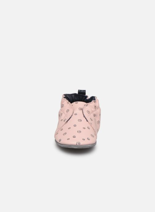 Chaussons Robeez Justine Rose vue portées chaussures