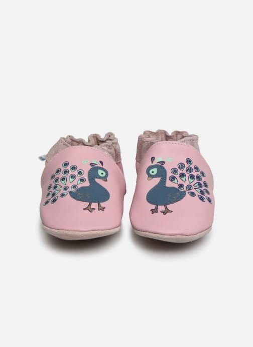 Chaussons Robeez Lovely Peacock Rose vue portées chaussures