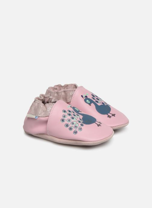 Chaussons Robeez Lovely Peacock Rose vue détail/paire