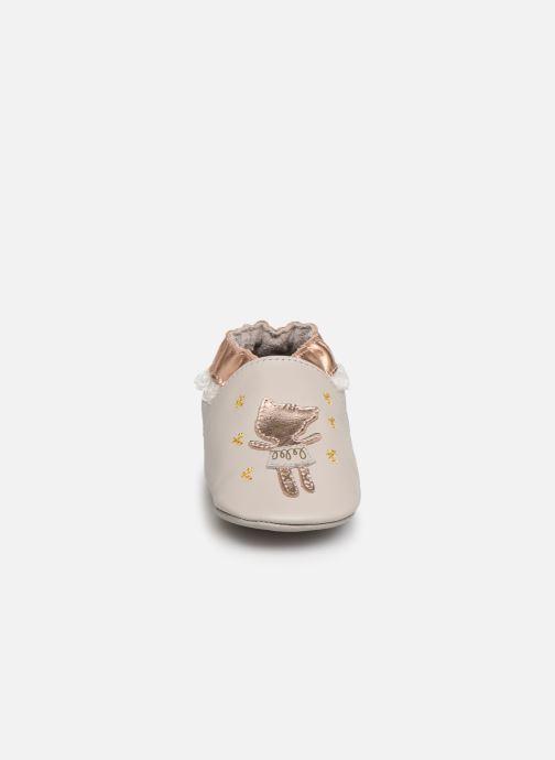 Chaussons Robeez Ballet Cat Gris vue portées chaussures