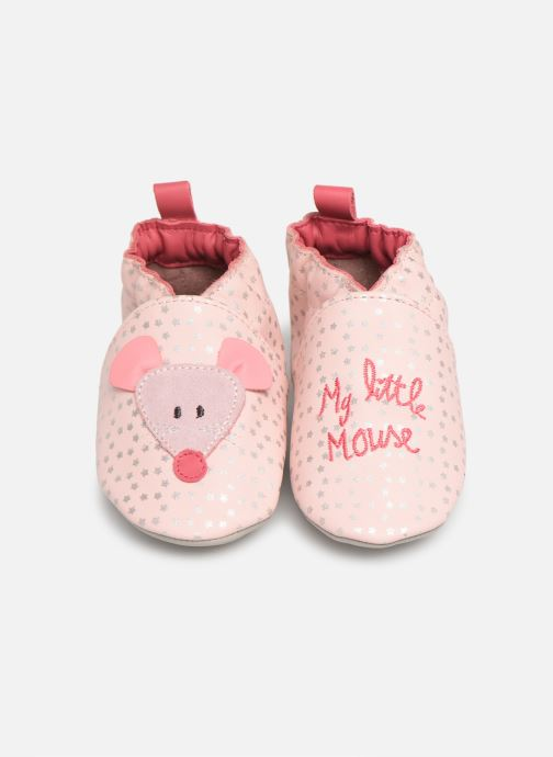 Chaussons Robeez Little Mouse Rose vue 3/4