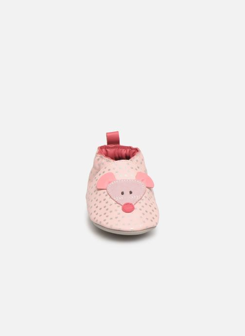 Chaussons Robeez Little Mouse Rose vue portées chaussures