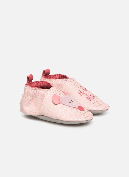Chaussons Robeez Little Mouse Rose vue détail/paire