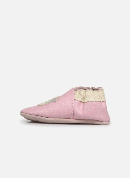 Chaussons Robeez Hamster Family Rose vue face