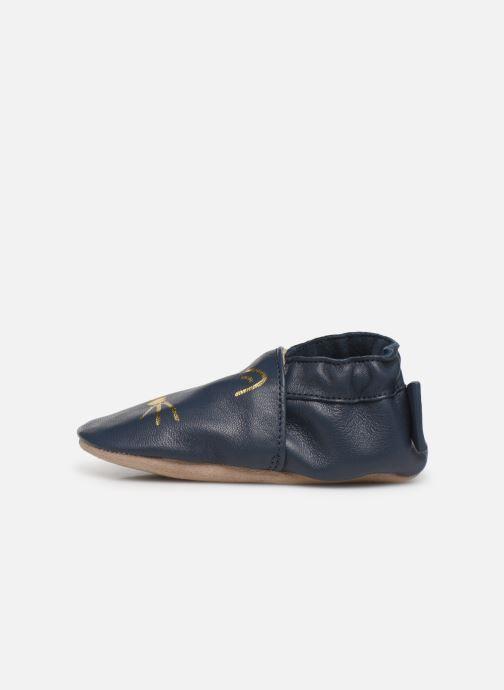 Pantofole Robeez Goldy Cat Azzurro immagine frontale