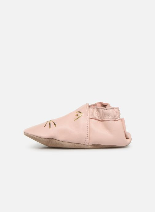Chaussons Robeez Goldy Cat Rose vue face