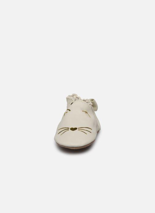 Chaussons Robeez Goldy Cat Beige vue portées chaussures