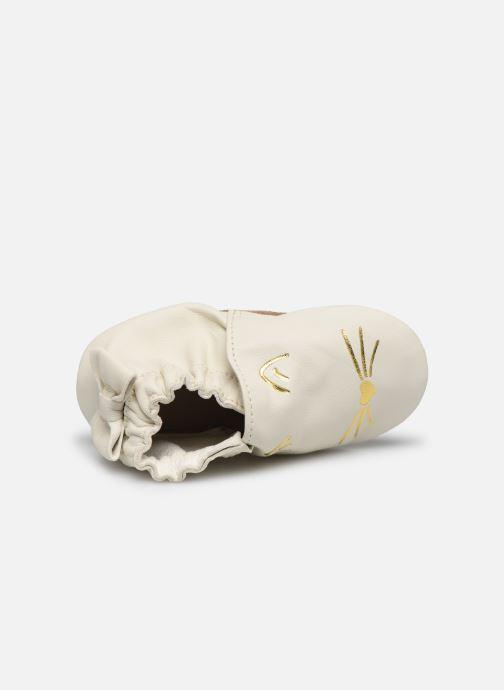 Chaussons Robeez Goldy Cat Beige vue gauche