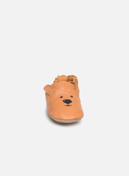 Chaussons Robeez Sweety Bear Marron vue portées chaussures