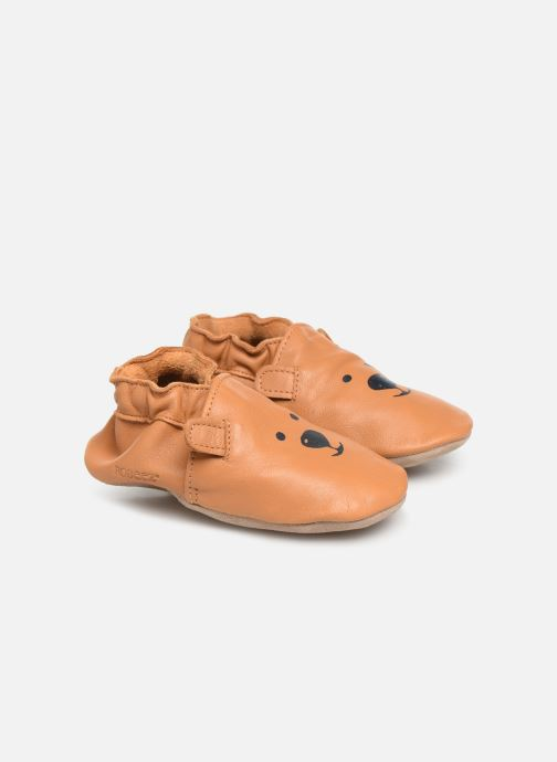 Chaussons Robeez Sweety Bear Marron vue détail/paire