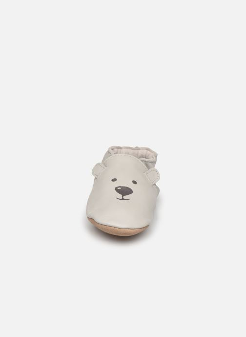 Chaussons Robeez Sweety Bear Gris vue portées chaussures