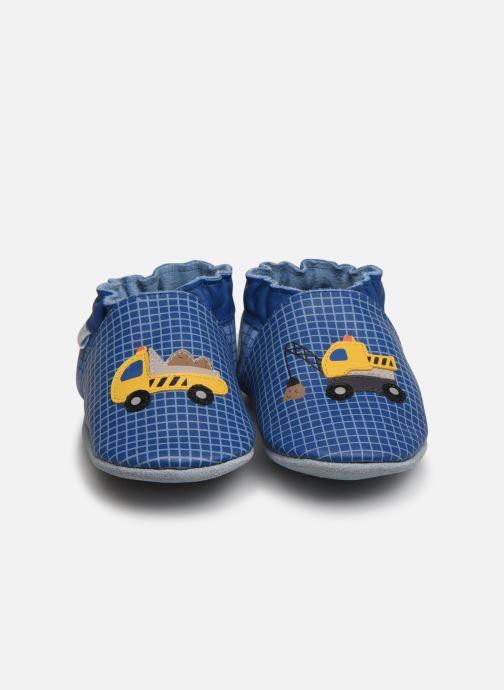 Chaussons Robeez Construction Bleu vue portées chaussures