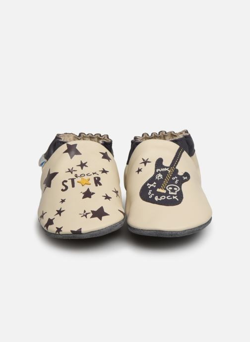 Chaussons Robeez Rock Star Blanc vue portées chaussures