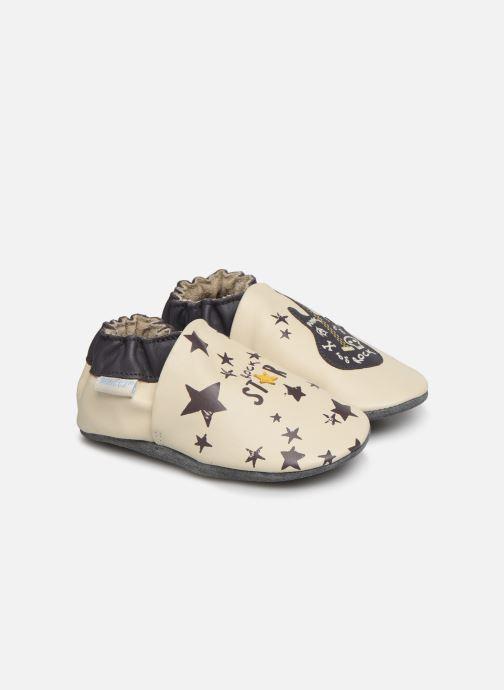 Chaussons Robeez Rock Star Blanc vue détail/paire