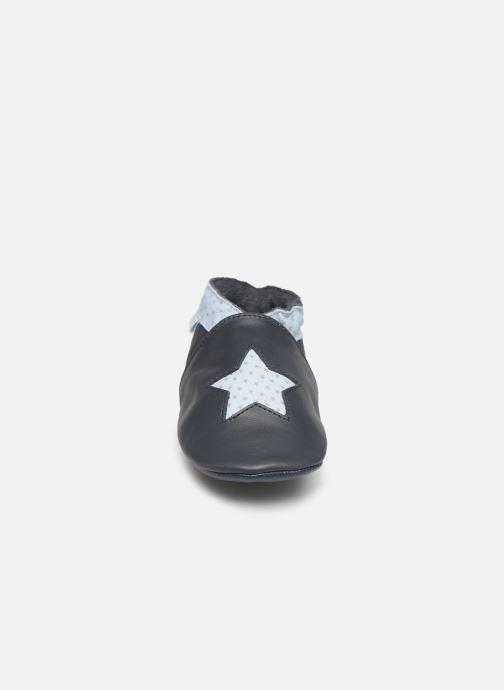 Pantofole Robeez Kindstar Azzurro modello indossato