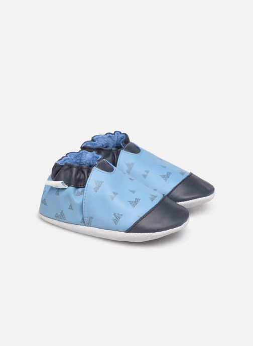 Hausschuhe Robeez Mountains blau detaillierte ansicht/modell