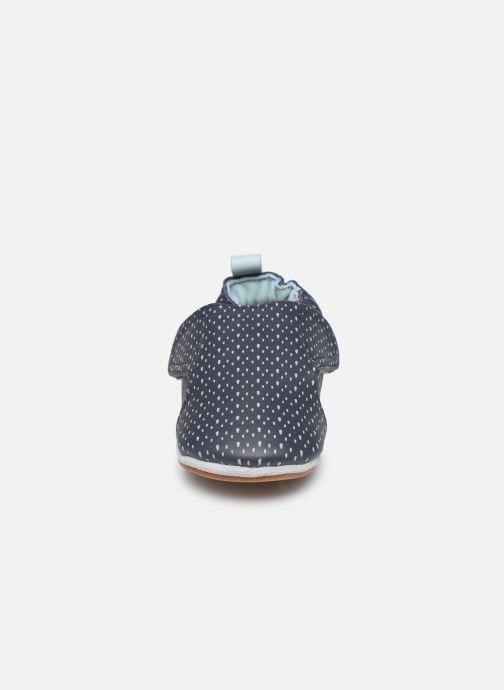 Chaussons Robeez Simon Bleu vue portées chaussures
