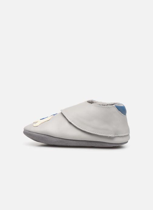 Pantofole Robeez Polar Bear Grigio immagine frontale