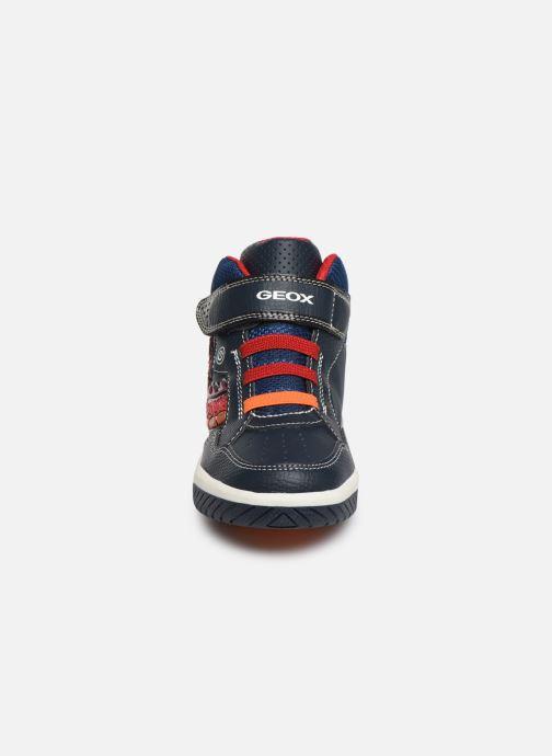 Baskets Geox J Inek Boy J949CE Bleu vue portées chaussures