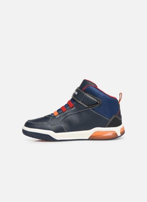 Sneakers Geox J Inek Boy J949CE Azzurro immagine frontale