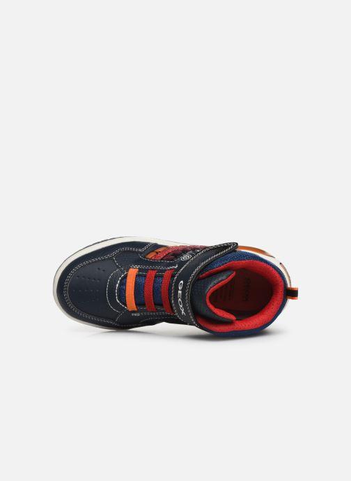 Sneakers Geox J Inek Boy J949CE Azzurro immagine sinistra