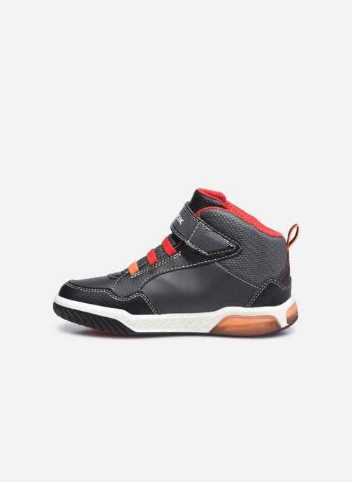 Sneaker Geox J Inek Boy J949CE schwarz ansicht von vorne