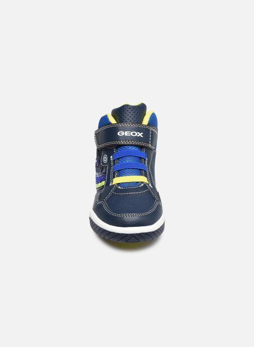 Sneaker Geox J Inek Boy J949CE blau schuhe getragen
