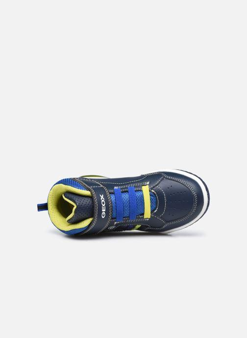 Sneaker Geox J Inek Boy J949CE blau ansicht von links