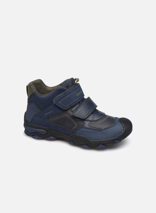 Sportssko Geox J Buller Boy B Abx J949WE Blå detaljeret billede af skoene