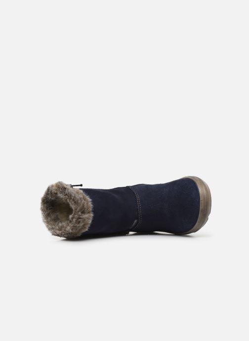 Stiefel Pepino Usky-Tex blau ansicht von links