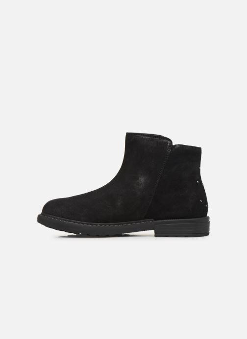 Boots en enkellaarsjes Geox J Eclair Girl J949QA Zwart voorkant
