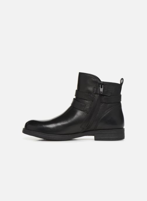 Boots en enkellaarsjes Geox JR Agata J9449A Zwart voorkant