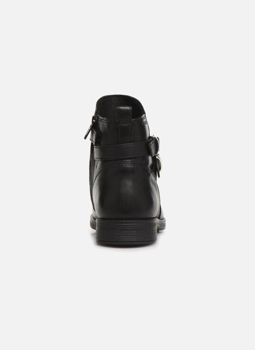 Boots en enkellaarsjes Geox JR Agata J9449A Zwart rechts