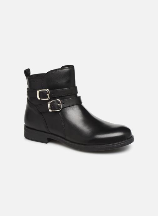 Ankle boots Geox JR Agata J9449A Black detailed view/ Pair view