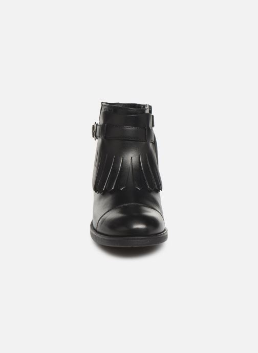Ankelstøvler Geox JR Agata J9449B Sort se skoene på