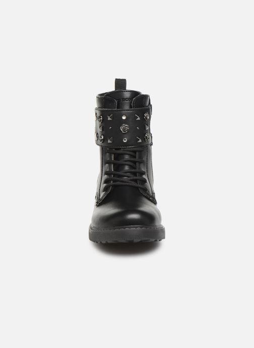 Bottines et boots Geox J Eclair Girl J949QC Noir vue portées chaussures