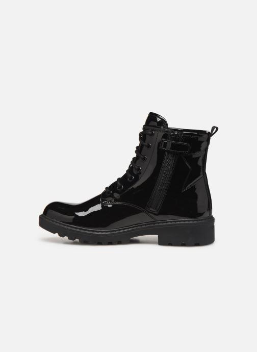 Boots en enkellaarsjes Geox J Casey Girl J9420G Zwart voorkant